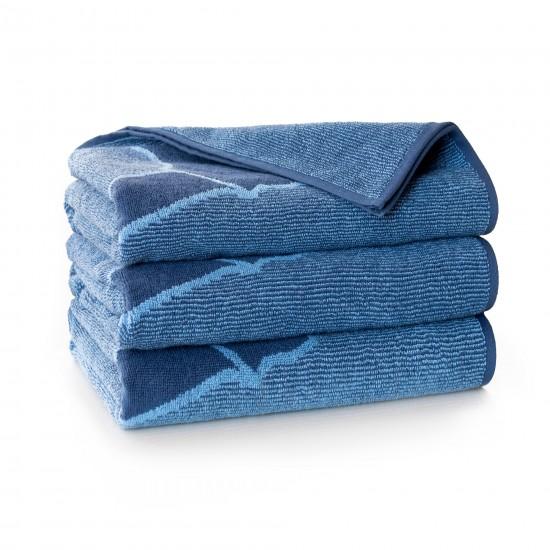 Ręcznik bawełniany niebieski Bieg 2 AG