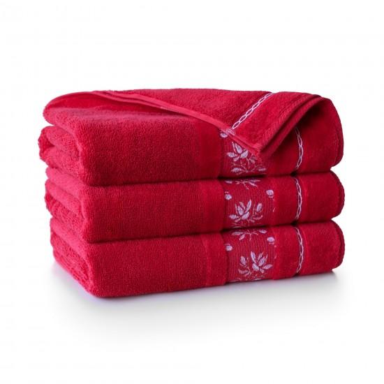 Ręcznik bawełniany czerwony Azalia AG