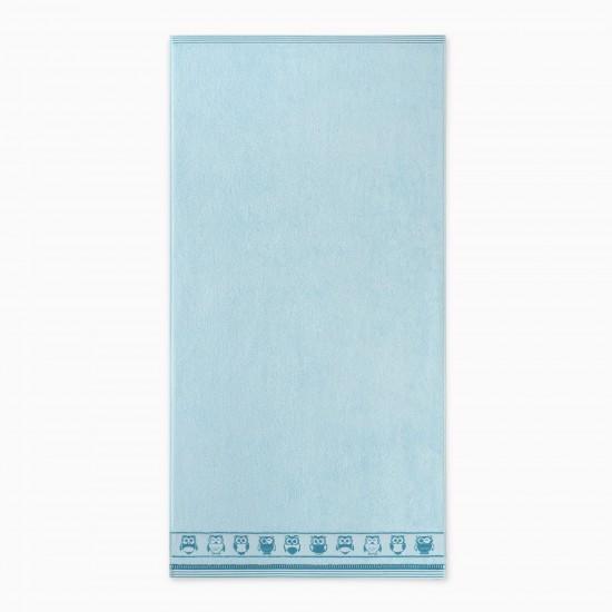 Ręcznik bawełniany niebieski Puszczyk Wodny