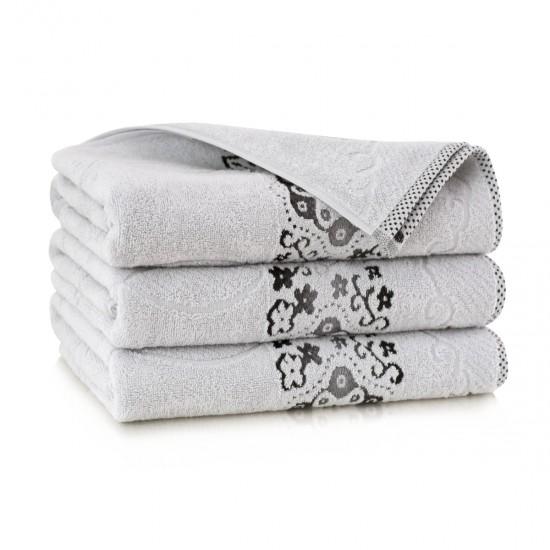 Ręcznik bawełniany szary Victoria Stalowy