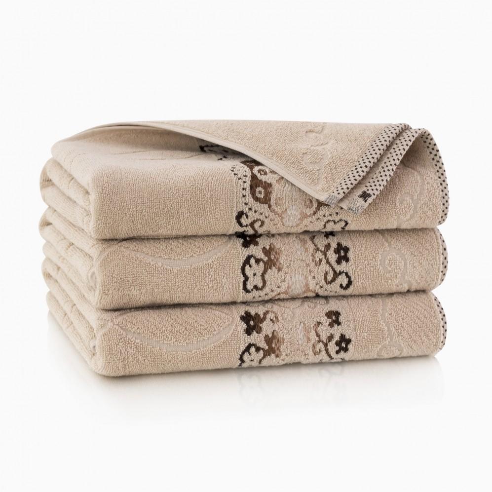 Ręcznik bawełniany beżowy Victoria Beż