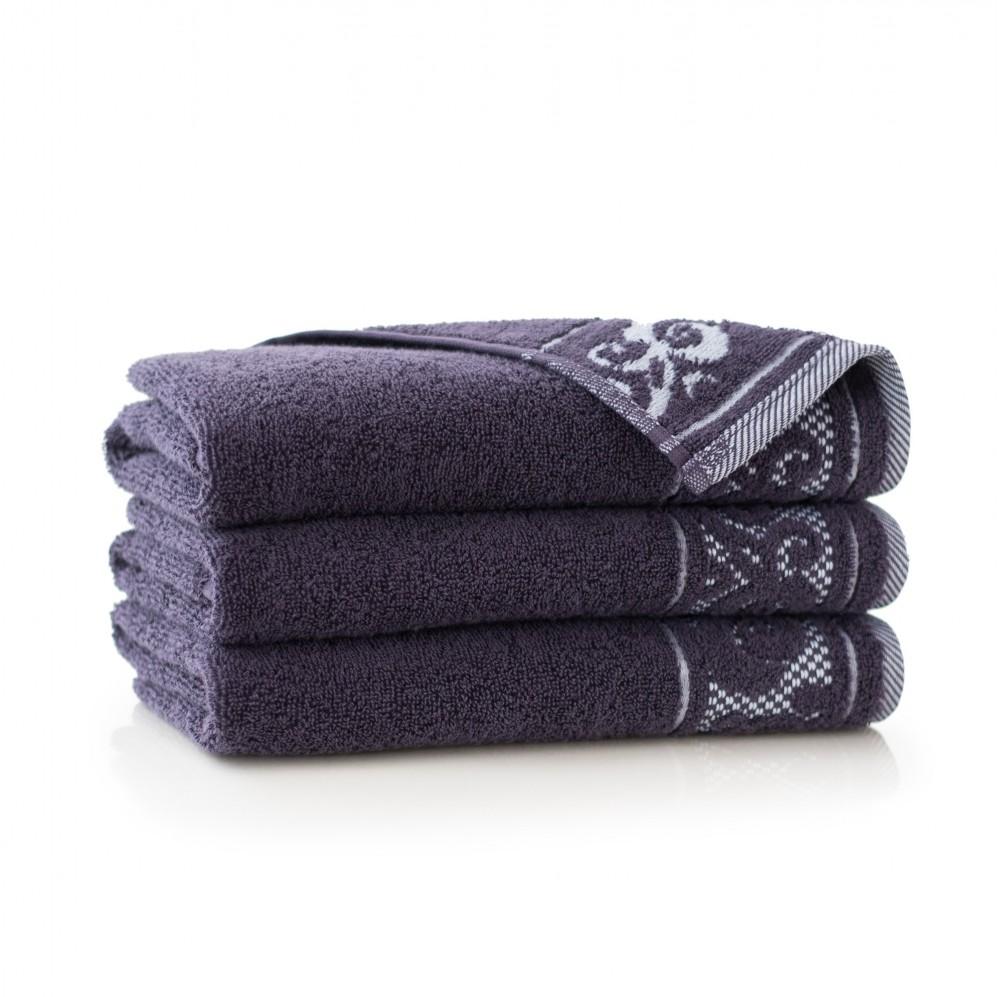 Ręcznik bawełniany fioletowy Inspiration Bakłażan