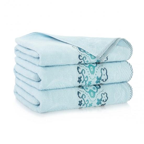 Ręcznik bawełniany niebieski Victoria Fala