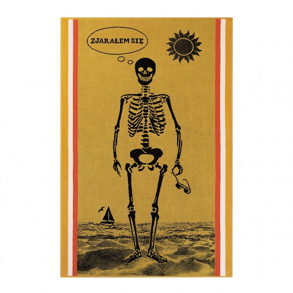 Ręcznik plażowy Kostek Żółty