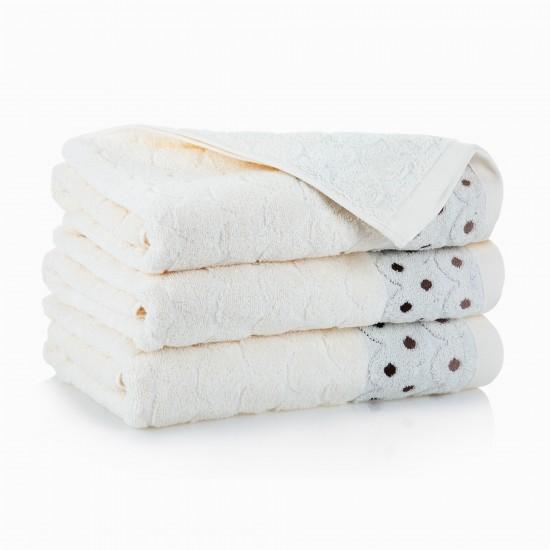 Ręcznik bawełniany beżowy Kolia Kremowy