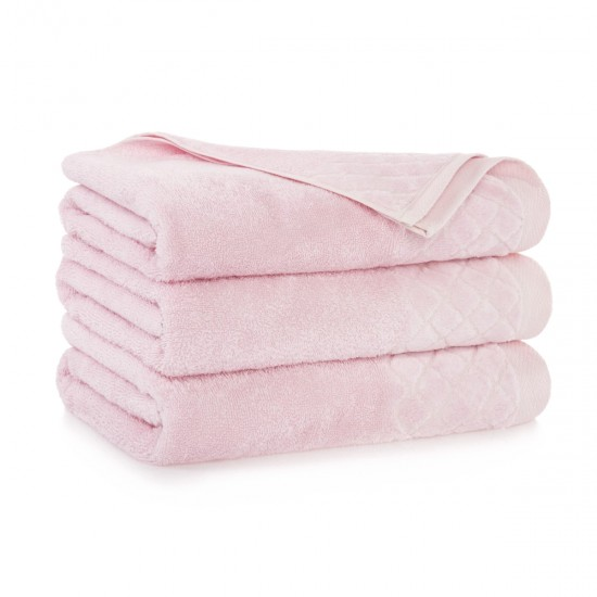 Ręcznik bawełniany różowy Diament Pąsowy