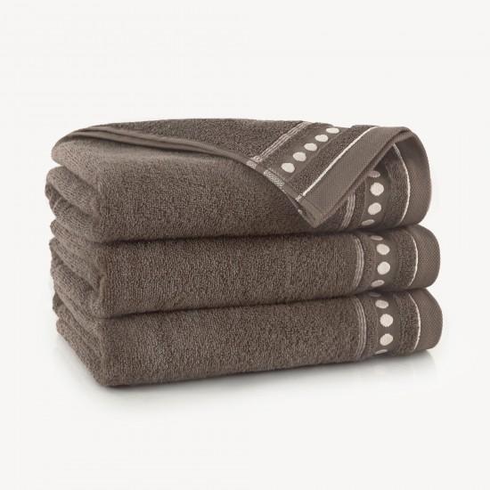 Ręcznik bawełniany beżowy Trio Sezam
