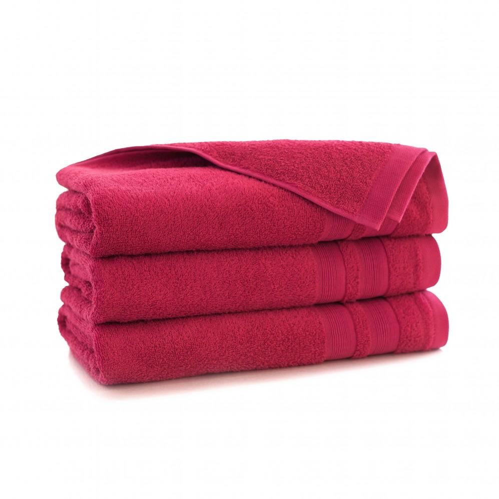 Ręcznik bambusowy frotte Ariel Malinowy