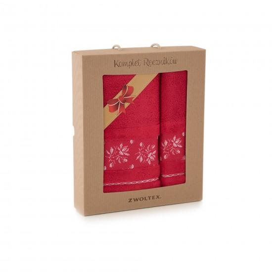 Komplet ręczników bawełnianych Azalia Czerwony