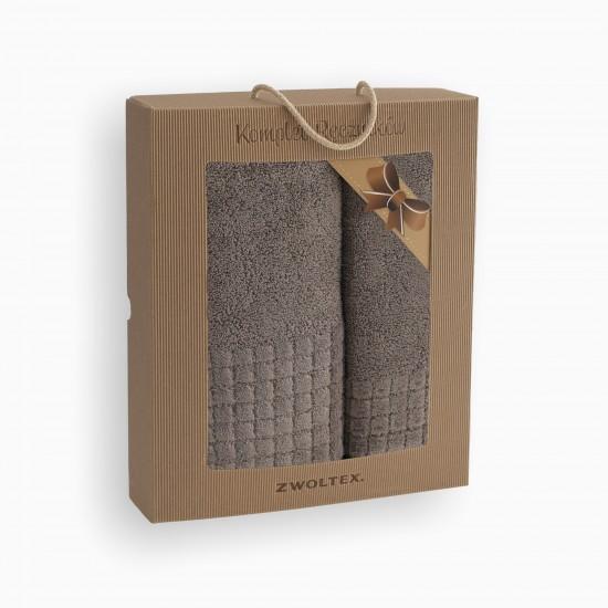 Komplet ręczników bawełnianych Paulo Cynamonowy AG