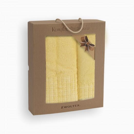 Komplet ręczników bawełnianych Paulo 2 Słomkowy