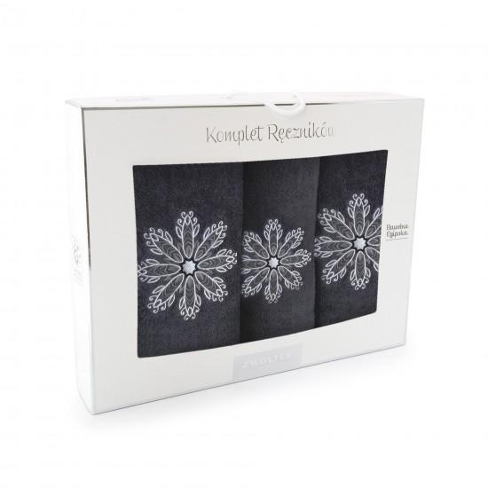 Komplet ręczników bawełnianych Rozeta
