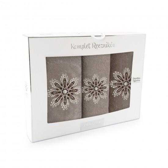 Komplet ręczników bawełnianych Rozeta Nugat