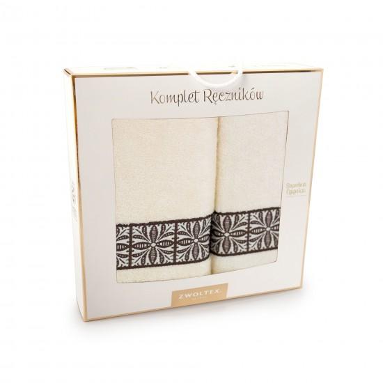 Komplet ręczników bawełnianych Eliza Ecru