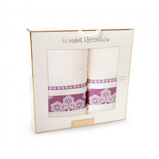 Komplet ręczników bawełnianych Luna Ecru