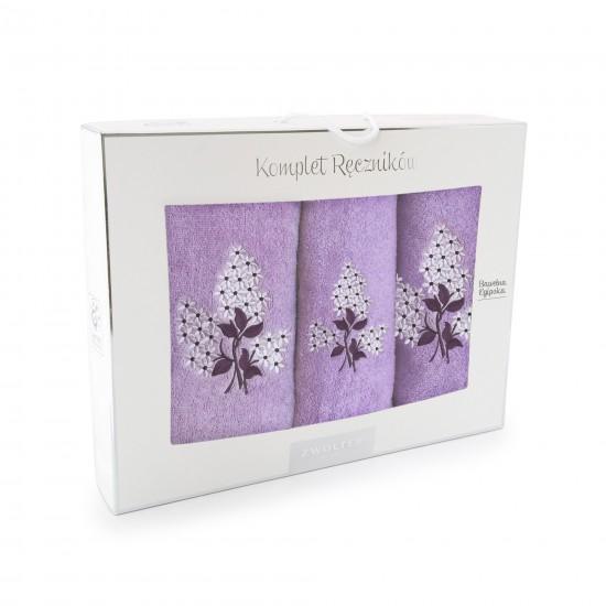 Komplet ręczników bawełnianych Bez Fioletowy