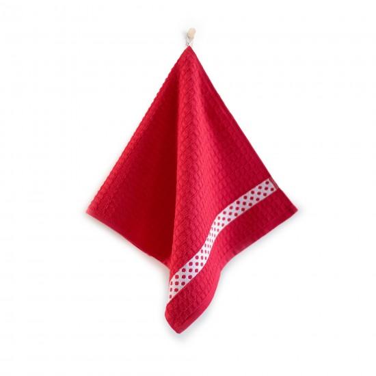 Ręcznik kuchenny Kropki Czerwony