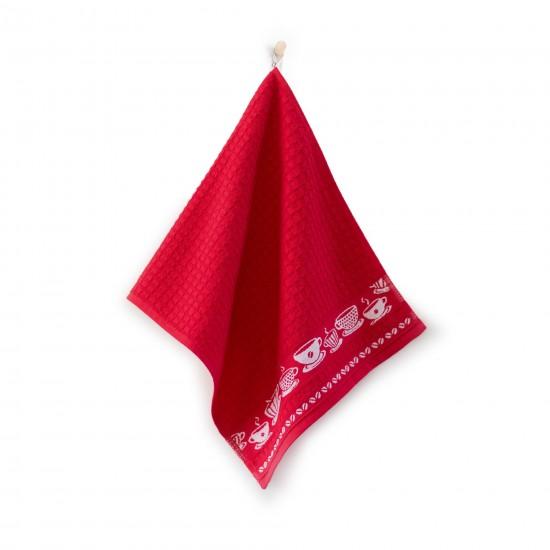 Ręcznik kuchenny Kawusia Czerwony