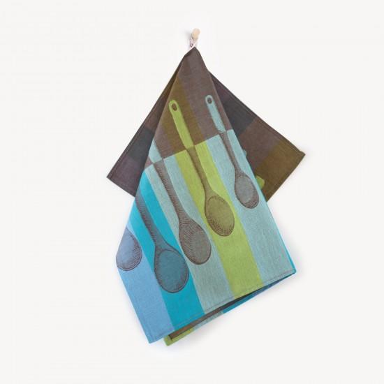 Ściereczka kuchenna Łyżki Niebieski