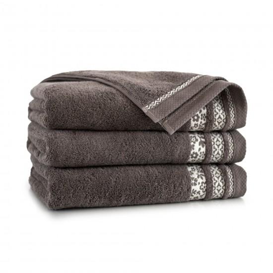 Ręcznik bawełniany brązowy Garden Taupe