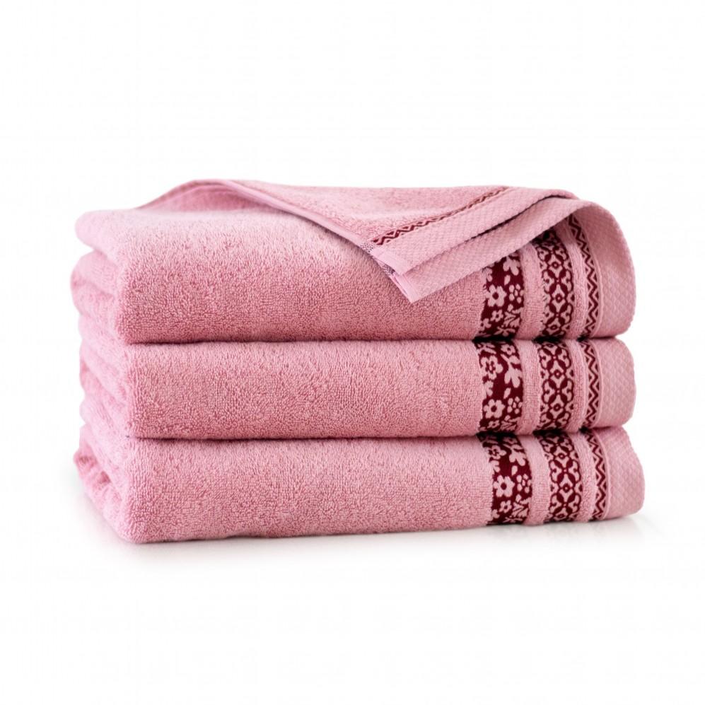 Ręcznik bawełniany Garden Pudrowy róż