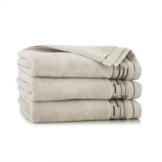 Ręcznik bawełniany beżowy Grafik Kreta