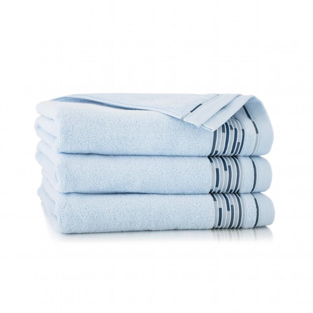 Ręcznik bawełniany niebieski Grafik Lapis