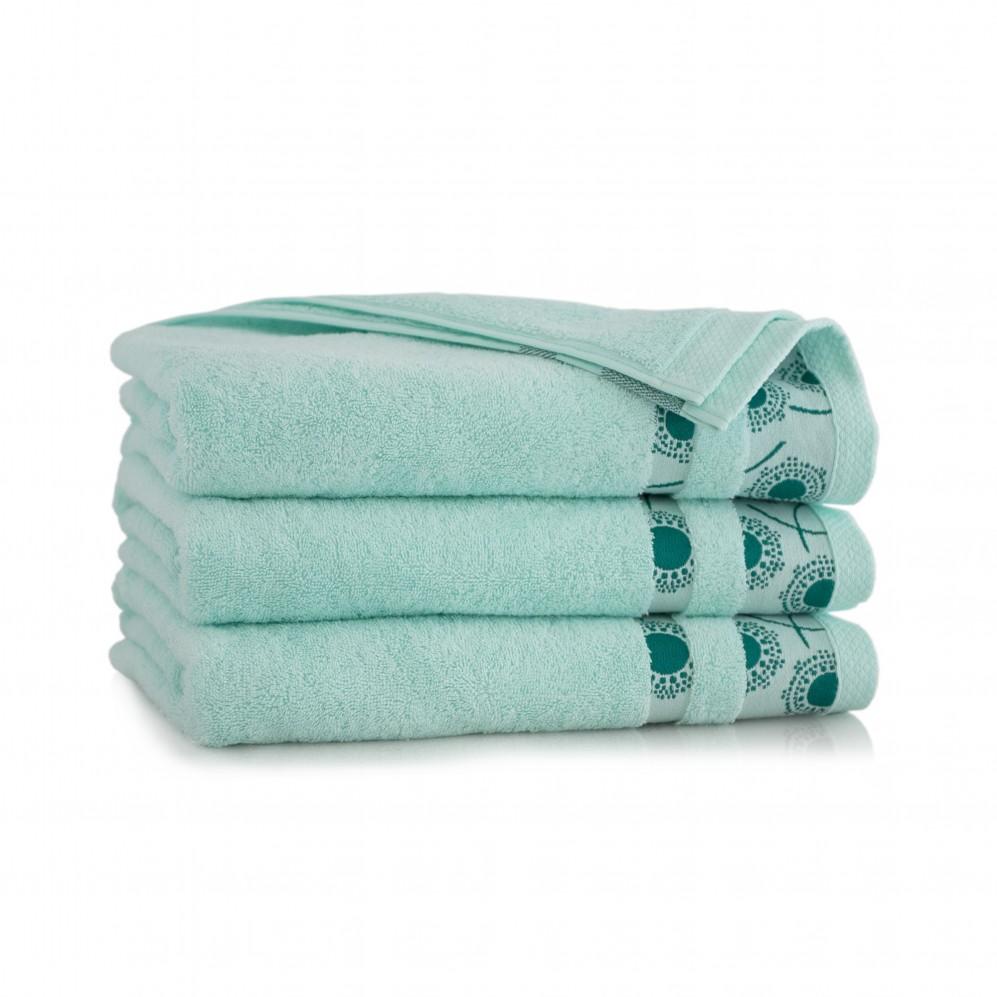 Ręcznik bawełniany zielony Natura Szklany