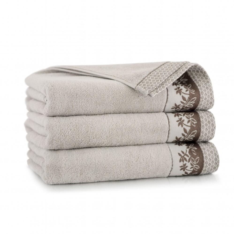 Ręcznik bawełniany Laura Sepia
