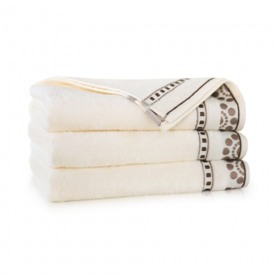 Ręcznik bambusowy frotte Merkan Ecru