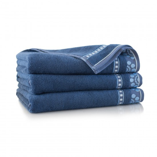 Ręcznik bambusowy frotte Merkan Indygo