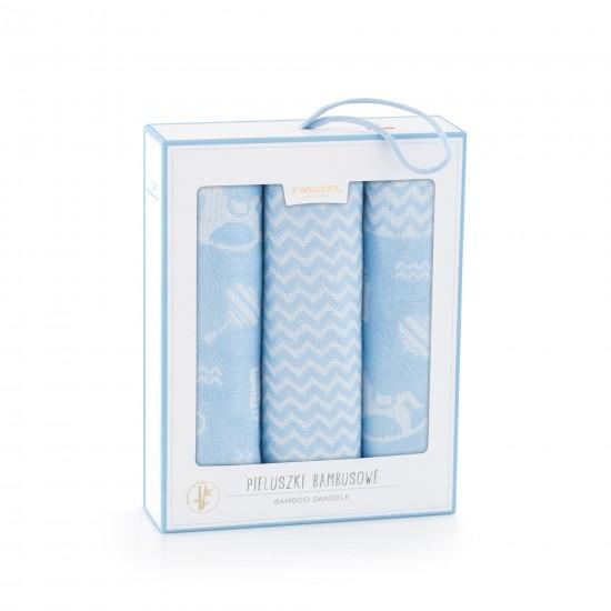 Komplet pieluszek bambusowych Zabawki Niebieski