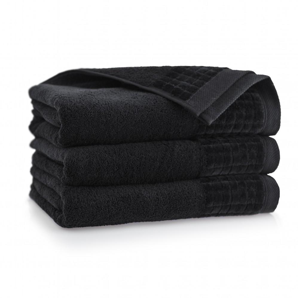 Ręcznik welurowy Paulo 3 Czarny