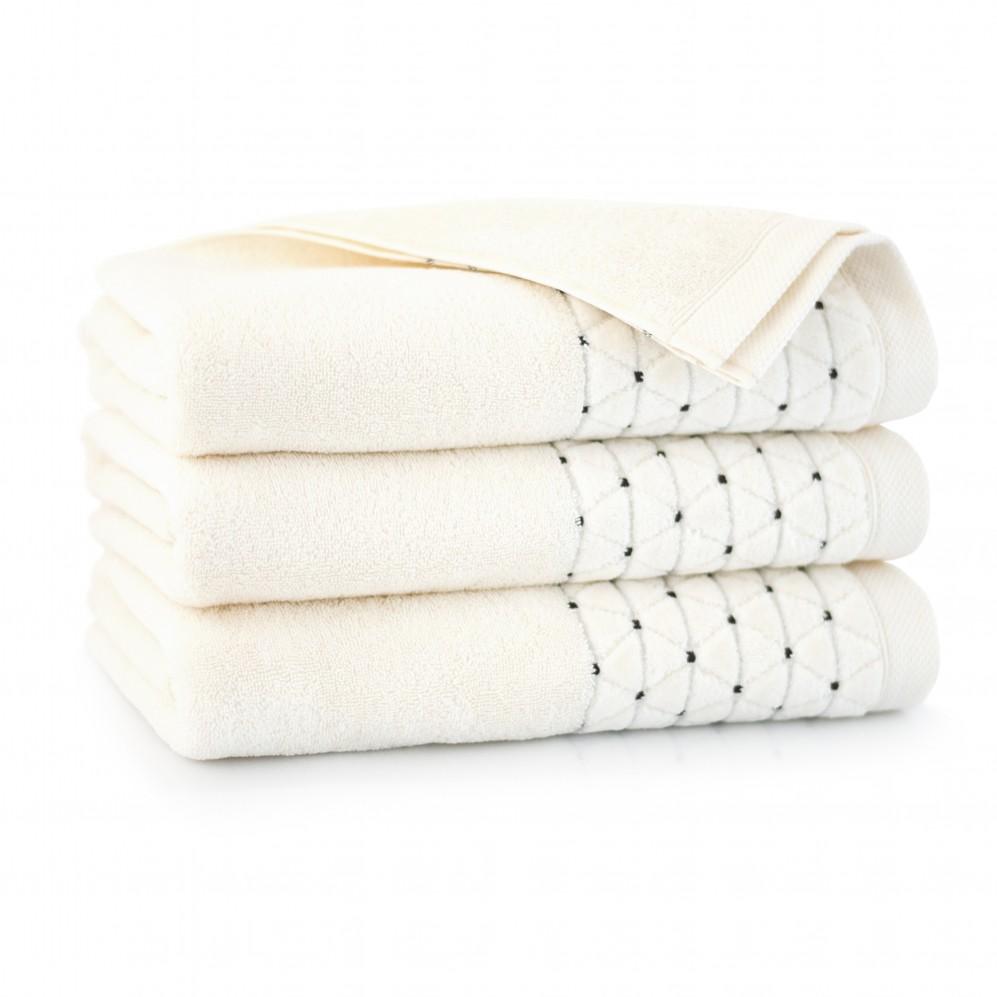 Ręcznik welurowy Oscar Kremowy