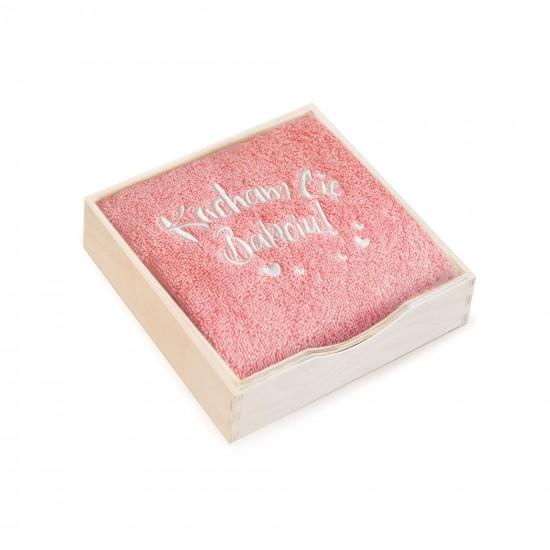 Ręcznik w pudełku drewnianym Kocham Cię Babciu Homar