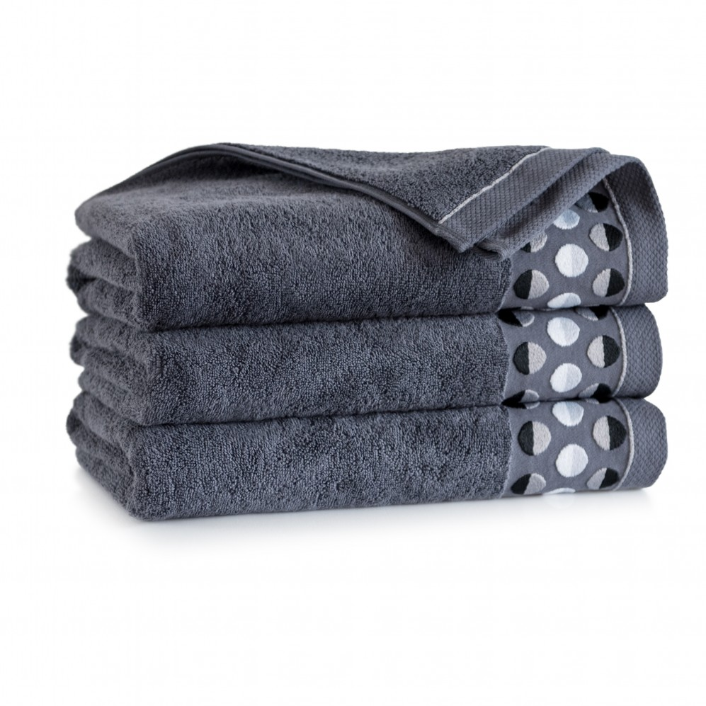 Ręcznik z bawełny egipskiej ZEN 2 Grafit