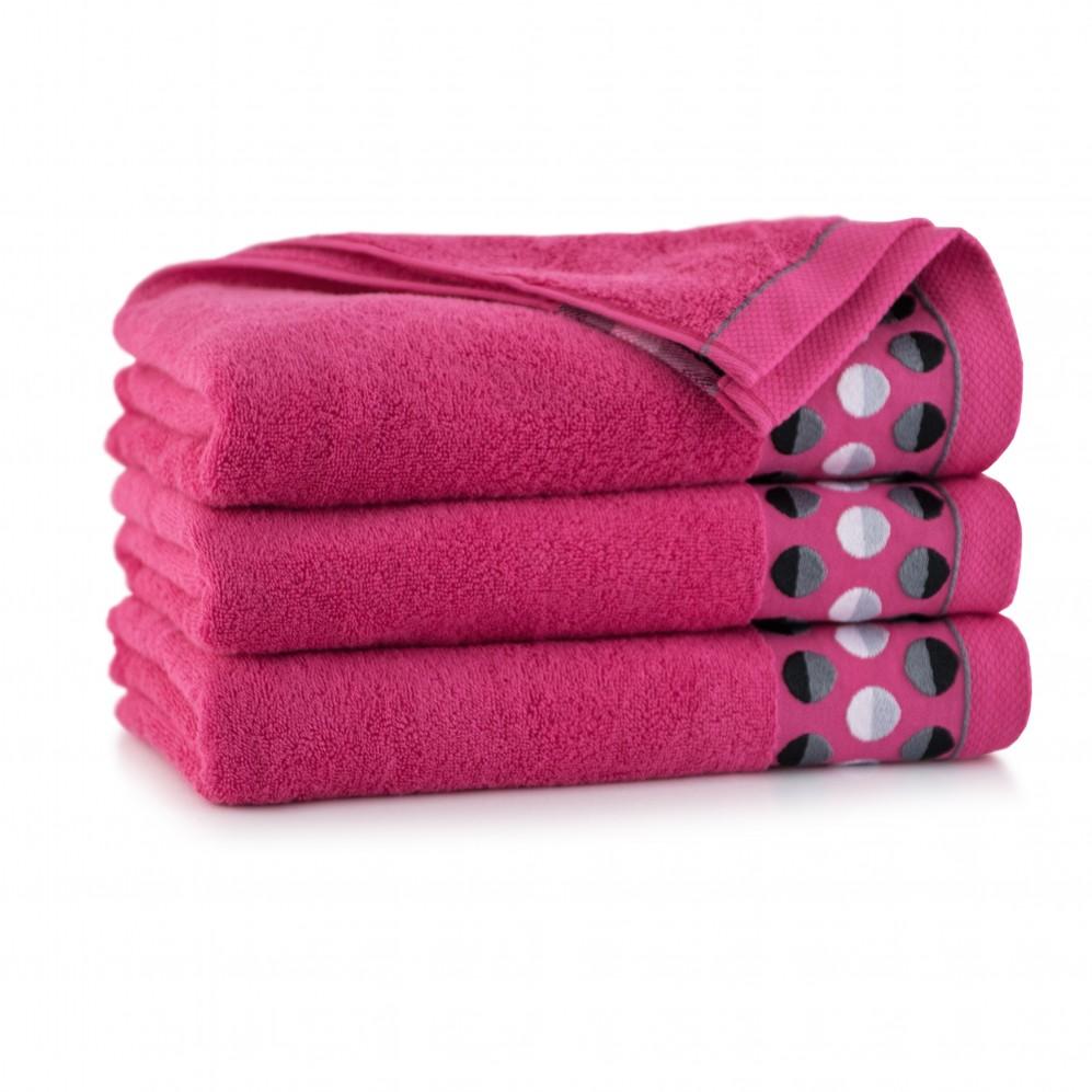 Ręcznik z bawełny egipskiej ZEN 2 Fuksja