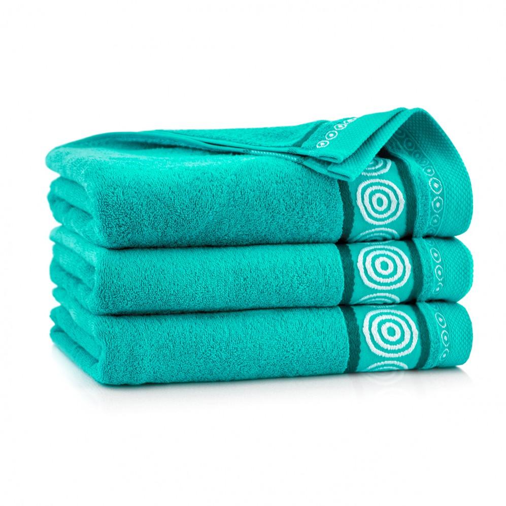 Ręcznik z bawełny egipskiej Rondo 2 Turkus