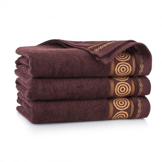 Ręcznik z bawełny egipskiej Rondo 2 Brąz