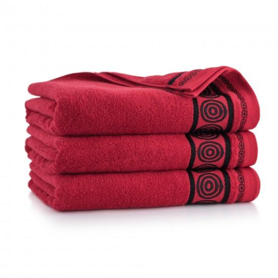 Ręcznik z bawełny egipskiej Rondo 2 Czerwony