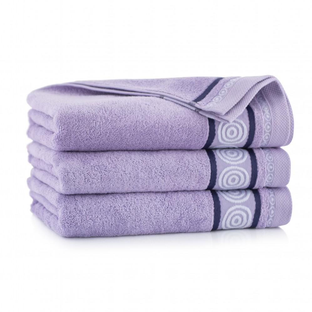 Ręcznik z bawełny egipskiej Rondo 2 Bzowy