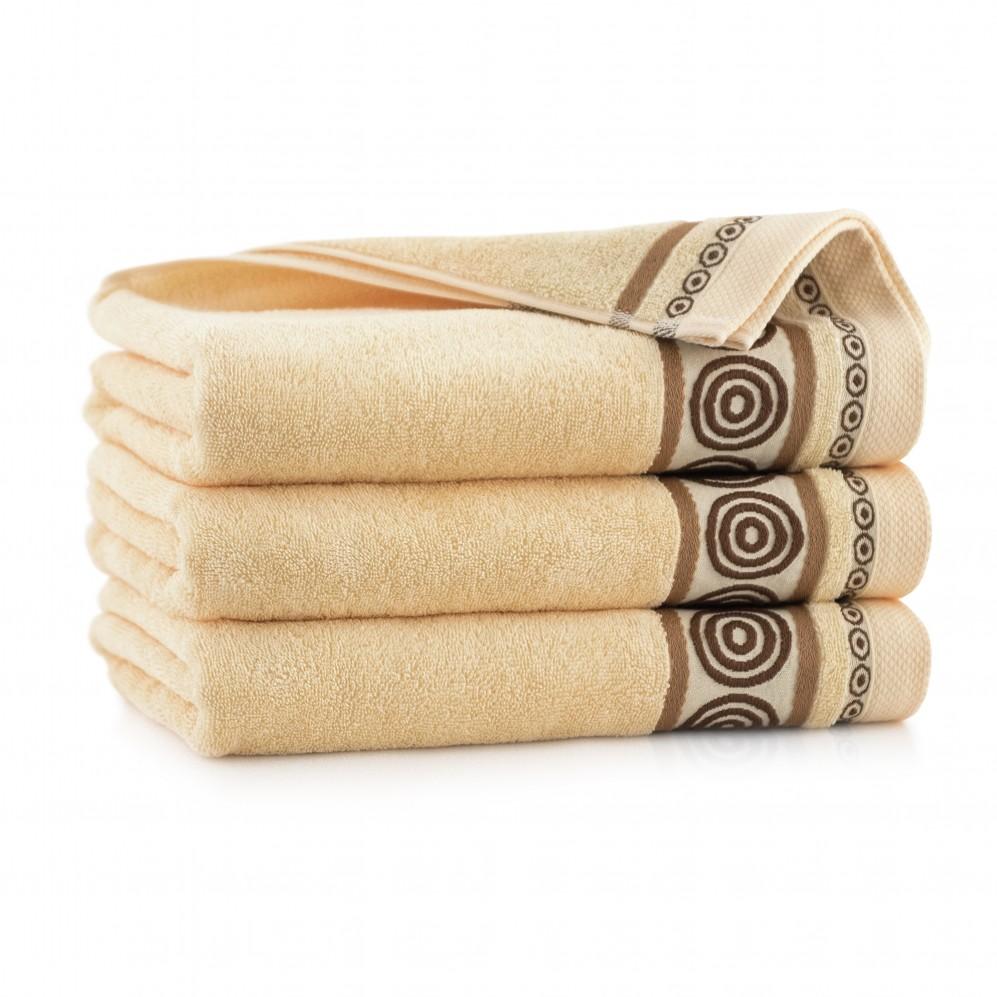 Ręcznik z bawełny egipskiej Rondo 2 Ajerkoniak