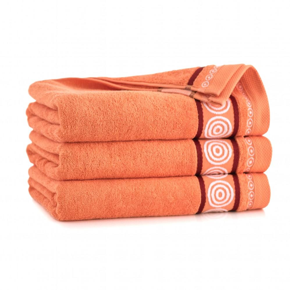 Ręcznik z bawełny egipskiej Rondo 2 Papaja
