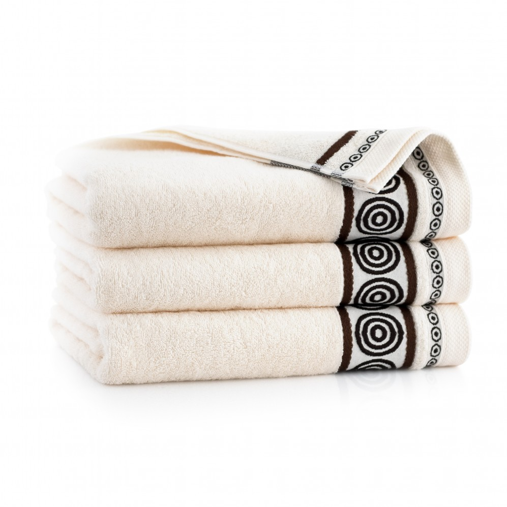 Ręcznik z bawełny egipskiej Rondo 2 Ecru