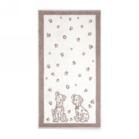 Ręcznik dla dzieci Dalmatyńczyki Beżowy