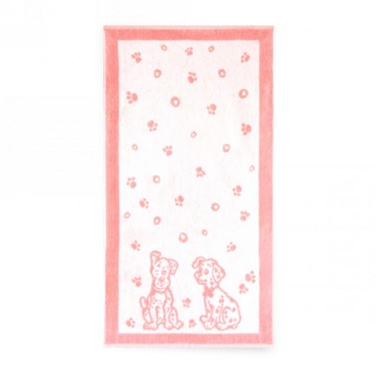 Ręcznik dla dzieci Dalmatyńczyki Różowy