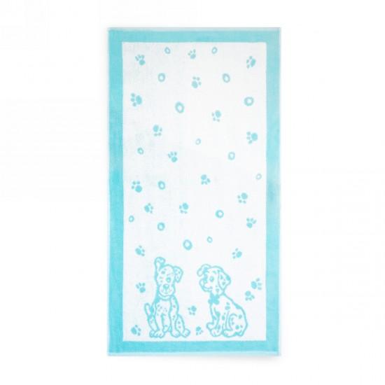 Ręcznik dla dzieci Dalmatyńczyki Turkusowy