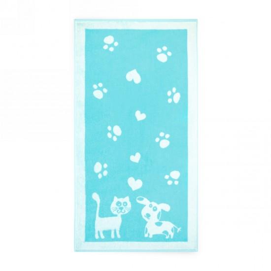 Ręcznik dla dzieci Pupile Turkusowy