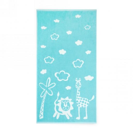 Ręcznik dla dzieci Safari Turkusowy