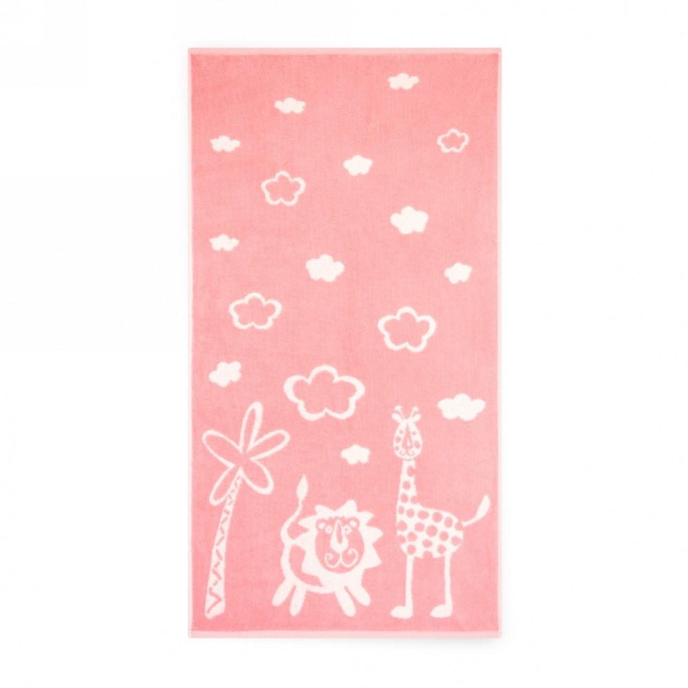 Ręcznik dla dzieci Safari Różowy